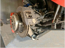 Installation Electric Parking Brake, Tesla, Brembo caliper